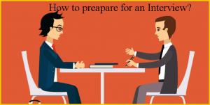 Interview preparations