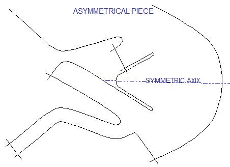 asymmetric piece