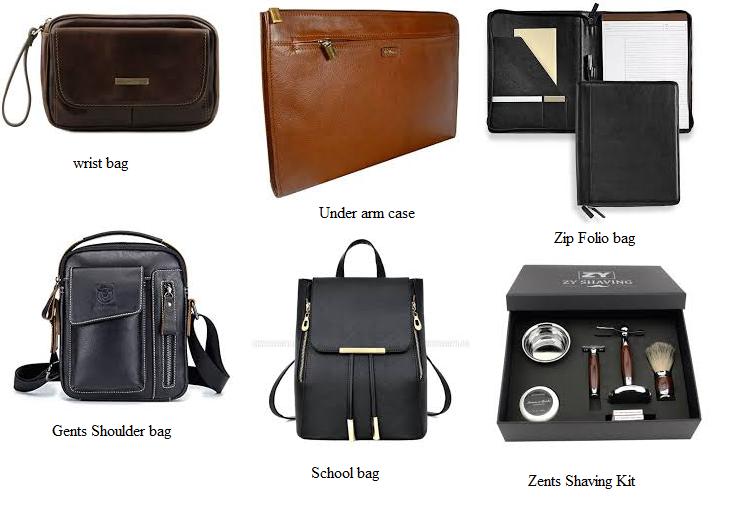Medium leather goods